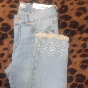 Loft light wash cropped jeans
